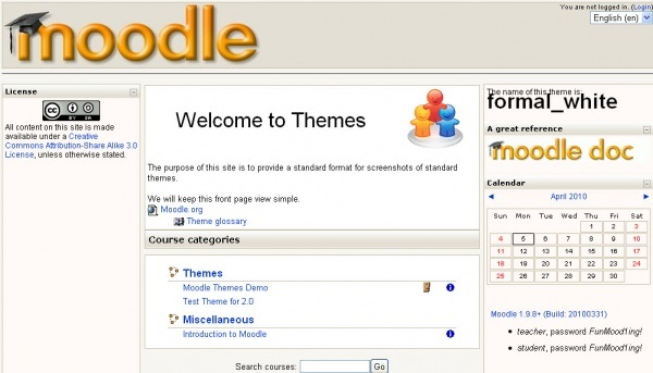 image formal withe moodle